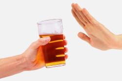 Отказ от алкоголя при цистите